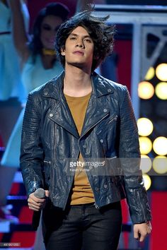Bryan Mouque of CD9 performs onstage during Telemundo's Latin American Music Awards at the Dolby Theatre on October 8, 2015 in Hollywood, California.
