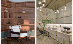Os padrões Carvalho Malva e Carvalho Hanover foram a escolha de Bárbara Jalles no projeto do restaurante, o mesmo que foi utilizado no banheiro feminino do Studio 011