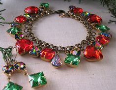 Holiday jewelry http://etsy.me/rrjXIy charm bracelet
