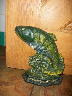 Cast Iron Door Stop - Fish