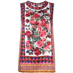 Dolce & Gabbana Mambo print tank top (12.725.370 IDR) ❤ liked on Polyvore featuring tops, pink, loose tank, loose fitting tanks, loose tank tops, sleeveless tank tops and summer tops