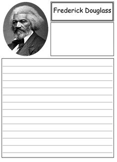 Printables Frederick Douglass Worksheet frederick douglass on pinterest notebooking paper