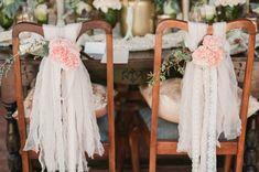 Vintage wedding chair decor / Marcie Meredith Photography