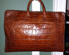 Carlos Falchi Alligator Handbag #CarlosFalchi #Satchel