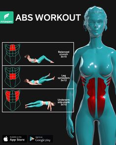 Abs Workout Routines, Gym Workout Tips, Dumbbell Workout, Workout Challenge, Workout Videos, Workout Body, Body Under Construction, Slim Waist Workout, Everyday Workout