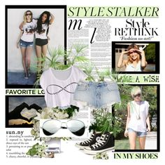 A fashion look from June 2013 featuring shirt crop top, JET by John Eshaya and ripped short shorts. Browse and shop related looks. My Cousin, Walking By, Make A Wish, Famous People, Sunnies, Jet, Converse, Plant, Polyvore