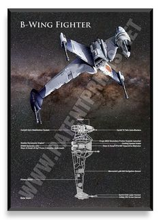 B-Wing Fighter, Star Wars Poster