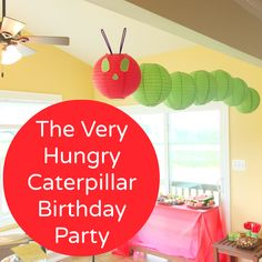 The Very Hungry Caterpillar Birthday Party