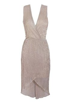 TFNC Florence Metallic Dress from Glitzy Angel about $63 USD ... sparkly, shimmer, gold, champagne, neutral, short, cocktail, bridesmaid by dominique