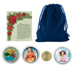 Spread the holiday cheer with this charming collection. An angel coin and three…