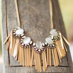 Fringe necklace Gold fringe necklace Haveitwearitloveit Jewelry Necklaces