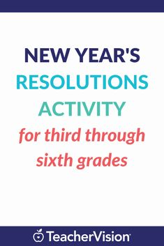 Teach upper elementary and middle school students about New Year's resolutions. This holiday-themed activity explains what resolutions are and why they should make them. Students make a list of resolutions for themselves in several categories (school, Goal Setting Activities, Holiday Activities, Writing Activities, First Year Teachers, New Teachers, Weather Experiments, New Year Goals, Sixth Grade, Teaching Strategies