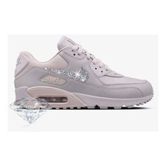 new style bfe68 00a6c Limited Nikelab Air Max 90 Made With Swarovski Crystals  venice venice violet Ash featuring