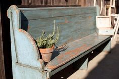 love the lines of this church pew ~ Found Vintage Rentals - Home