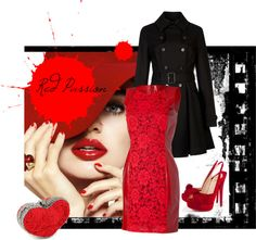 """""""Red Passion"""" by bibired on Polyvore"""