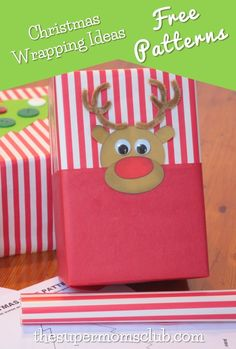 Kids Christmas Wrapping Ideas - The Super Moms Club Christmas Tree And Santa, Christmas Gift Wrapping, Christmas Gifts For Kids, Christmas Crafts, Super Mom, Free Food, Wraps, Diy Crafts, Templates
