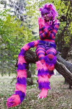 chesire cat cosplay | Charming Cheshire Cat Cosplay I could never pull this off but I can still appreciate it