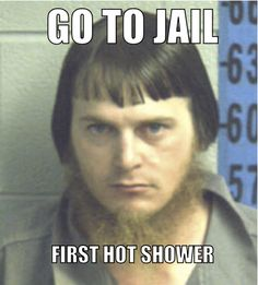 Amish Mugshot meme