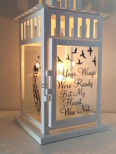 sympathy gifts other than flowers uk Memorial Ornaments, Memorial Gifts, Memorial Ideas, Funeral Memorial, Engel Silhouette, Silhouette Cameo, Christmas In Heaven, Christmas Crafts, Xmas