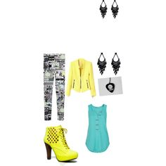 A fashion look from January 2015 featuring Monki leggings, Qupid ankle booties and Oasis earrings. Browse and shop related looks.