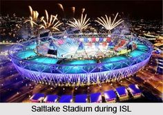 Salt Lake Stadium is a popular stadium in India and largest football stadium in the sub continent, with a capacity of more than 120,000 people. It is now the abode of Atletico de Kolkata. For more visit the page. #sports #football #games