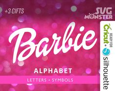 Barbie FONT SVG Barbie Alphabet svg Doll Dolly Cutting Files for Vinyl Cutter & heat press transfer cameo Cricut,Silhouette 120 by SVGmonster on Etsy