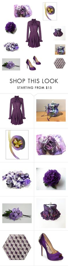 """""""Purple Mauve"""" by einder ❤ liked on Polyvore featuring Elie Saab and Badgley Mischka"""