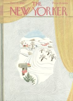 The New Yorker - Saturday, December 15, 1945 - Issue # 1087 - Vol. 21 - N° 44 - Cover by : Ilonka Karasz
