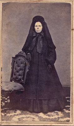 Woman in Mourning, Albumen Carte de Visite, 1864-1865.