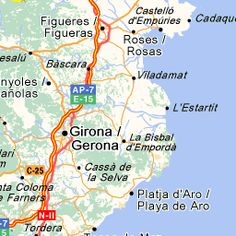 ViaMichelin Aeroport de El Prat-Barcelona Girona Itinerary: find the best route