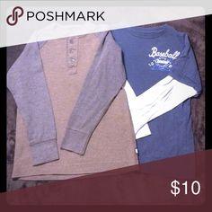 2 boys GAP 7/8 long sleeve shirts 2 boys gap size 7/8 long sleeve shirts GAP Shirts & Tops Tees - Long Sleeve