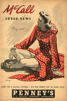 1940 mccall  By: Dollface & Dapper Vintage Clothes on eBay and Etsy