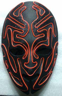 Alien Glow El wire mask by ELWire4U on Etsy, $50.00