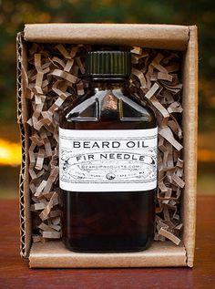 Fir Needle Beard Oil in Apothecary Glass by BeardProducts on Etsy
