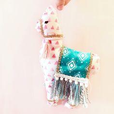 DIY Llama Softie   sewing with kids   fiber art   holiday softie