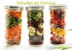 Une recette saine et très à propos pour les vacances… J'ai nommé : la salade en bocal ! Essayez les salades en bocaux et adoptez-les !
