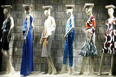 "WindowsWear | Bergdorf Goodman, This is a cool ""back to school"" window display idea"