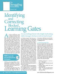 Identifying and Correcting Blocked Learning Gates
