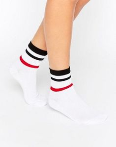 Buy ASOS Stripe Rib Ankle Socks at ASOS. With free delivery and return options (Ts&Cs apply), online shopping has never been so easy. Get the latest trends with ASOS now. Asos, Socks Outfit, Striped Socks, Ankle Highs, Ankle Socks, Hosiery, Fashion Online, Tights, Shoe Bag