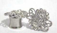 Funky Crystal Plugs 0 00 Gauge 7/16 8mm 10mm 11mm 0G 00G