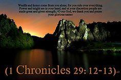 1 Chronicles 29:12-13 nlt