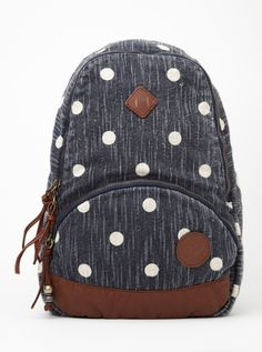Love the size and style of the Wild Outdoors Mini Backpack I Roxy. Polka Dot Backpack, Mini Backpack, Backpack Bags, Travel Backpack, Roxy Backpacks, Avon, Fitness Brand, Women Lifestyle, Cute Bags