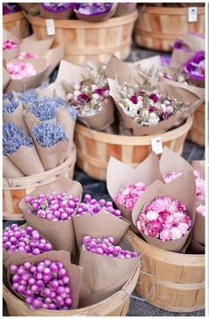 Farmers market flower bundles