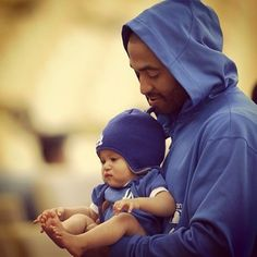 Because seeing him hold a baby is the greatest thing you've ever seen a man do. Ever. | 19 Reasons Matt Kemp Should Be The Only Man You Think About