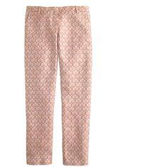 J.Crew Café capri in silk foulard (330 BAM) ❤ liked on Polyvore featuring pants, capris, bottoms, trousers, jeans, pantaloni, cropped capri pants, capri trousers, capri pants and silk pants