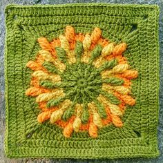 Kalevala CAL - Part 5 - Big Oak, The World Tree - free crochet square pattern. Free Crochet Square, Crochet Square Patterns, Crochet Squares, Crochet Motif, Crochet Yarn, Granny Squares, Foundation Piecing, Crafts To Make And Sell, Knitting Designs