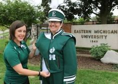 Eastern Michigan University alumni who've long considered themselves to be Hurons are getting some recognition from the marching band.    EMU's new marching band uniforms will be sporting the university's former Huron and Normalite logos as a way to connect past and present alumni.