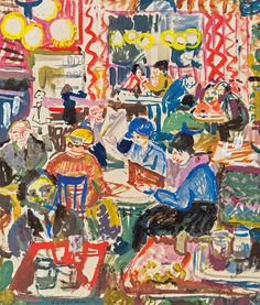 "amare-habeo: "" Oskar Laske (Austrian, 1874 - 1951) In Café (Kaffeehaus), N/D """