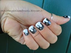 CHIKI88...  my passion for nails!: 31 days challenge: Black and white!