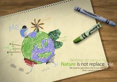 Nature is not replaceable (환경포스터)